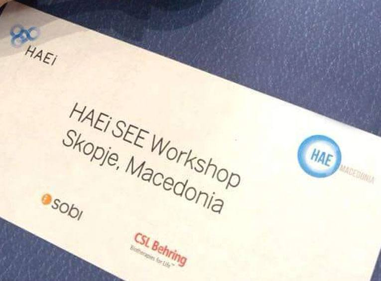 HAEi South Eastern Europe Workshop 2018 - HAE International